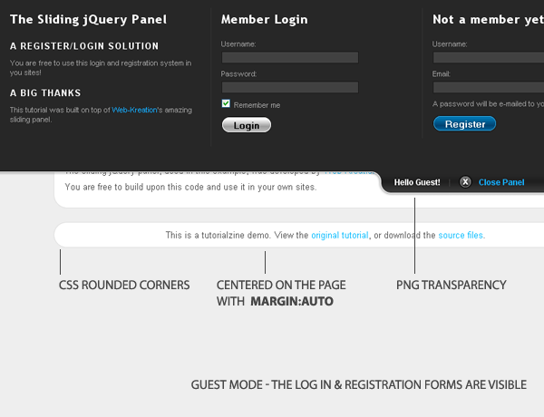 Making A Cool Login System With PHP, MySQL & jQuery - Tutorialzine
