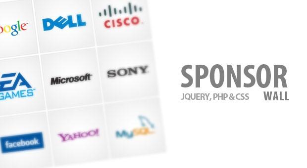 Sponsor Flip Wall With jQuery & CSS - Tutorialzine