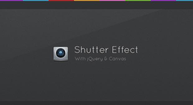 Shutter Effect Portfolio with jQuery and Canvas - Tutorialzine
