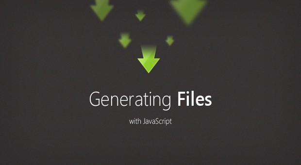 Generating Files with JavaScript - Tutorialzine