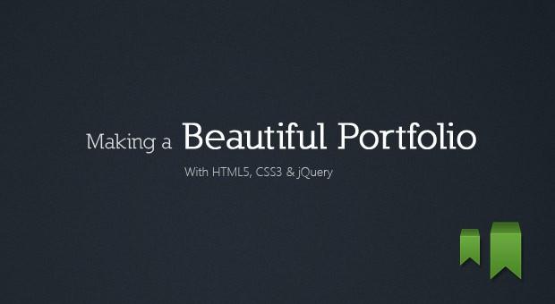 Making a Beautiful HTML5 Portfolio - Tutorialzine