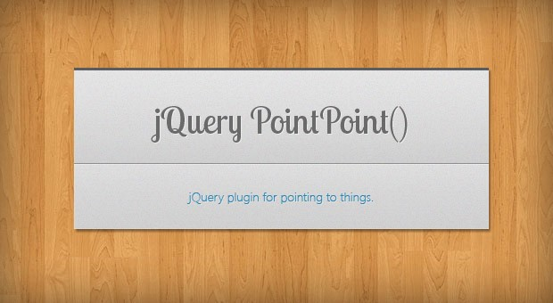 jQuery PointPoint - A Plugin For Pointing To Things