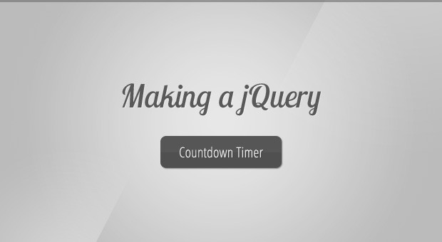 Making a jQuery Countdown Timer - Tutorialzine