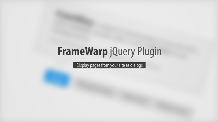 FrameWarp - jQuery plugin for displaying pages in a neat