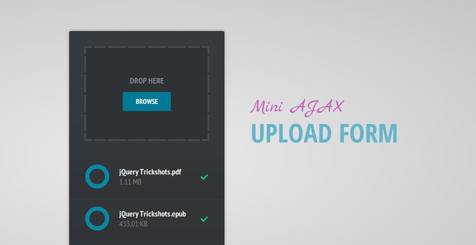 Mini AJAX File Upload Form - Tutorialzine