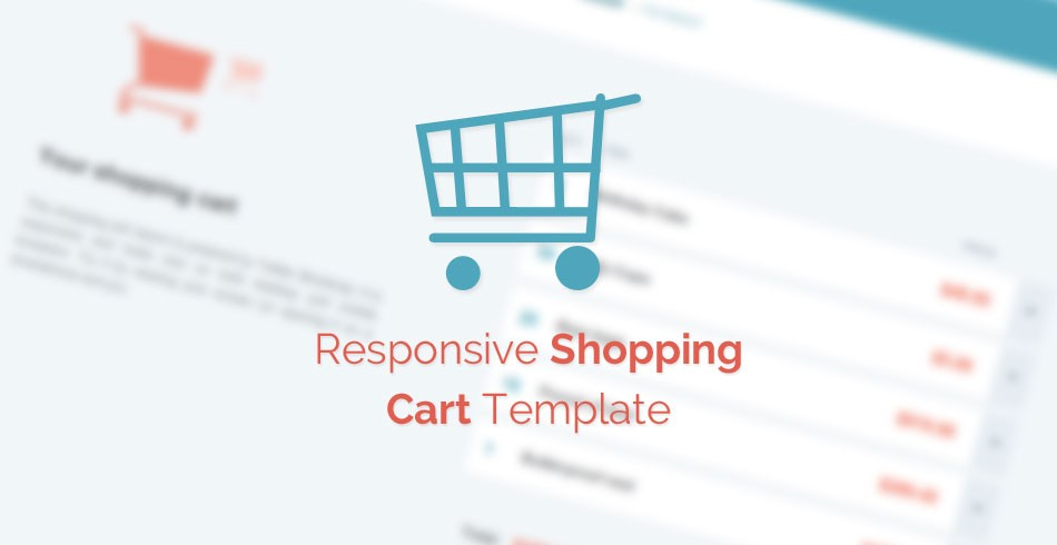free template  responsive shopping cart