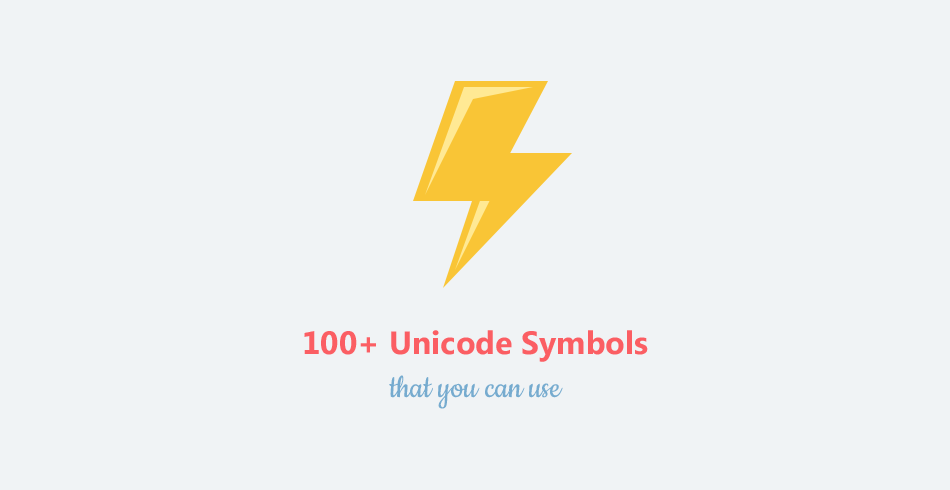 You Dont Need Icons Here Are 100 Unicode Symbols That You Can Use
