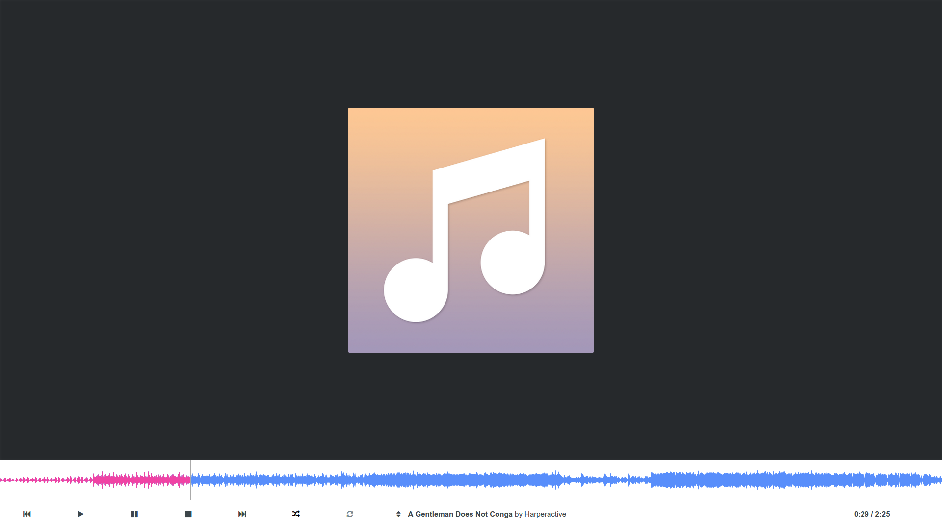 Experiment: HTML5 Music Player picture photo png jpg image