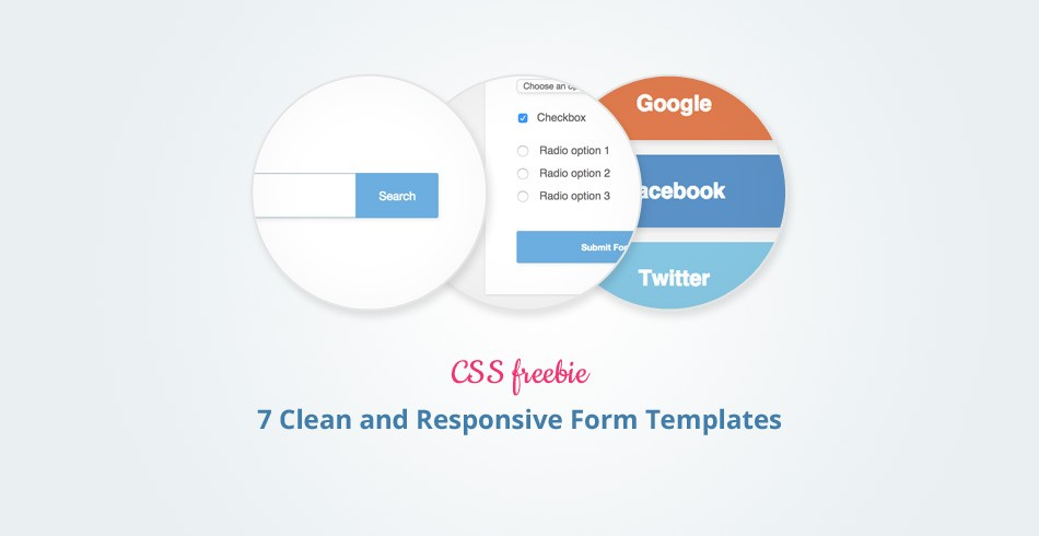 Freebie: 7 Clean and Responsive Form Templates - Tutorialzine