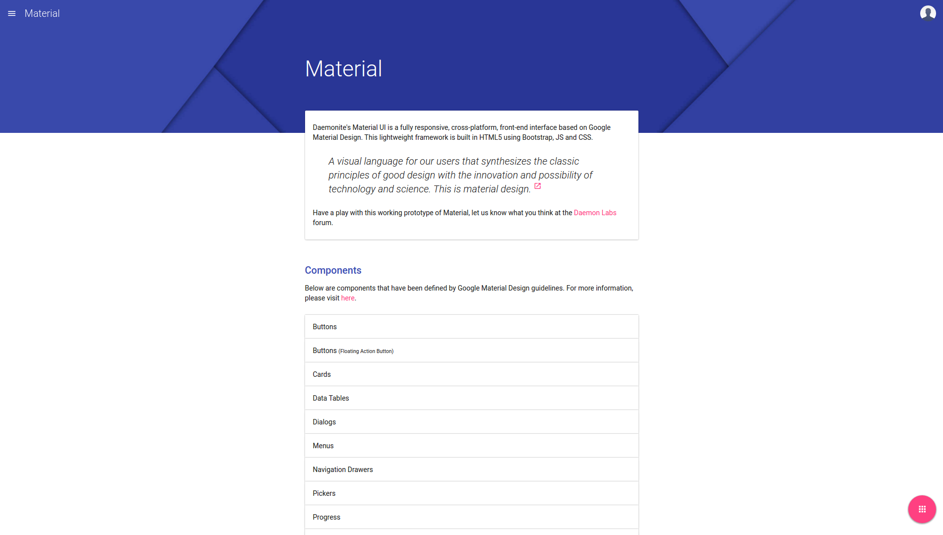 The 15 best material design frameworks and libraries tutorialzine 10materialg falaconquin