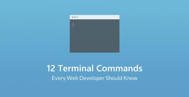 12 Terminal Commands Every Web Developer Should Know About - Tutorialzine [en] (Martin Angelov) @Tutorialzine