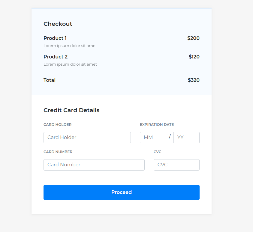 Freebie: 2 Beautiful Checkout Forms with Bootstrap 4 - Tutorialzine