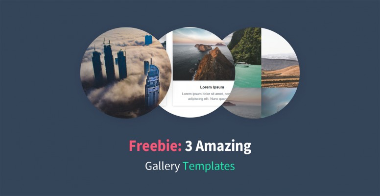 Freebie: 3 Amazing Bootstrap 4 Gallery Templates | PHPNews