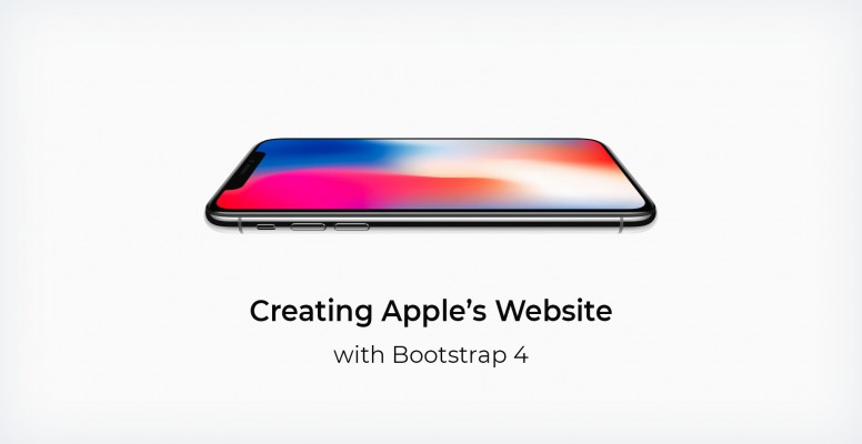 creating-apples-website-with-bootstrap-4